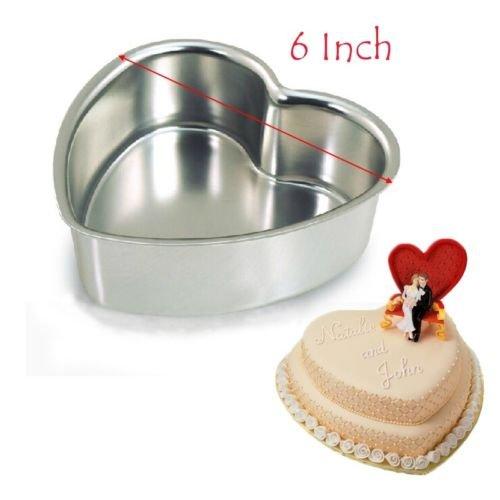 Corazón de aluminio para tartas Fondant decoración para magdalenas Cupcake moho latas para hornear herramienta 6 inch