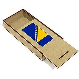 Azeeda 'Bandiera della Bosnia ed Erzegovina' Astuccio per matite in Legno (PC00018642)