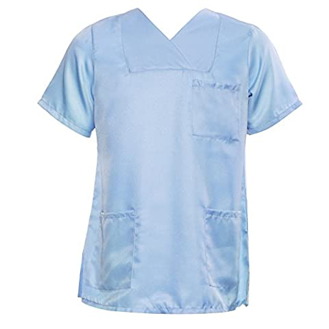 Nurses Healthcare Carer Tunic Hospitality Medical Scrub Top Uniform Unisex Dental Doctors Work Wear (16,