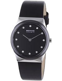 Bering Time Damen-Armbanduhr Slim Ceramic schwarz 32230-442