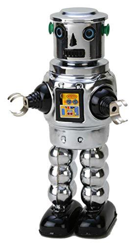 Juguete Decorativo de Hojalata Robot Cromado. Juguetes y Juegos de Colección. Regalos...