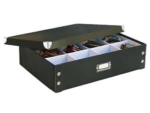 Zeller 17789 Belt/Tie Box Paperboard / 44.5 x 31.5 x 11 Black
