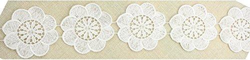 fundiy wasserlöslich Kreis groß Blumen aus Spitze Trim Floral Aufnäher Hochzeit Brautschmuck Kleid Ribbon Kopfschmuck Zubehör DIY (Kostüm Daisy Diy)