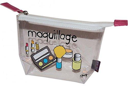 Incidence 60573 Trousse de toilette Avion Maquillage Transparente Avec 5 flacons Vinyle