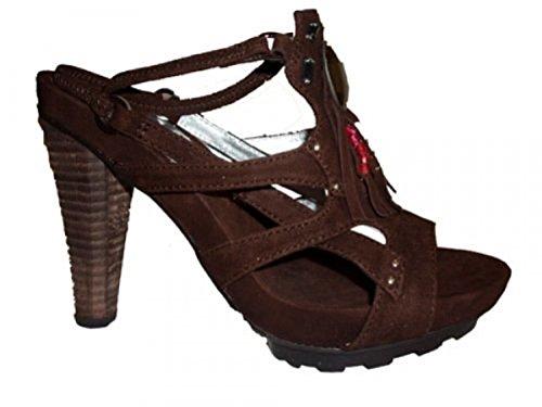 Cafe Noir Damen Sling Sandale FT101 braun Braun