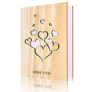 Tarjeta de amor de madera
