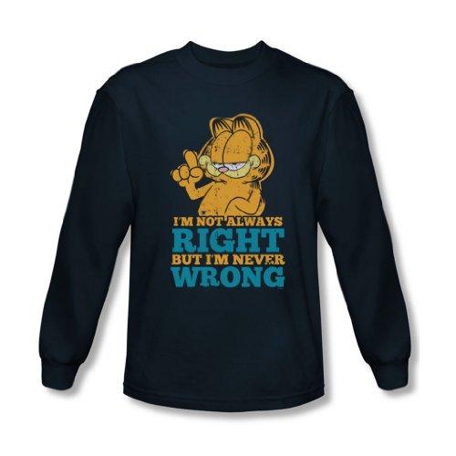 Garfield - Männer nie falsch Langarm-Shirt im Marine- Navy