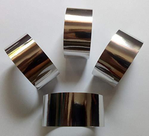 saxxdeluxe 20 Silber-Farbige Servietten-Ringe aus Metallisch glänzendem Papier