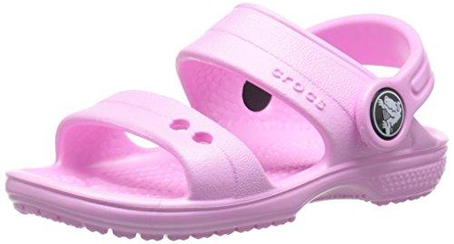 Crocs classic sandal k ciabatte, unisex ragazzi, rosa (carnation), 30-31 eu (13 uk)