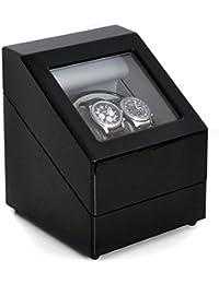 Klarstein Old Marshall caja para relojes (compacto, motor silencioso, capacidad para 2 relojes, diversos modos de rotación) - negro
