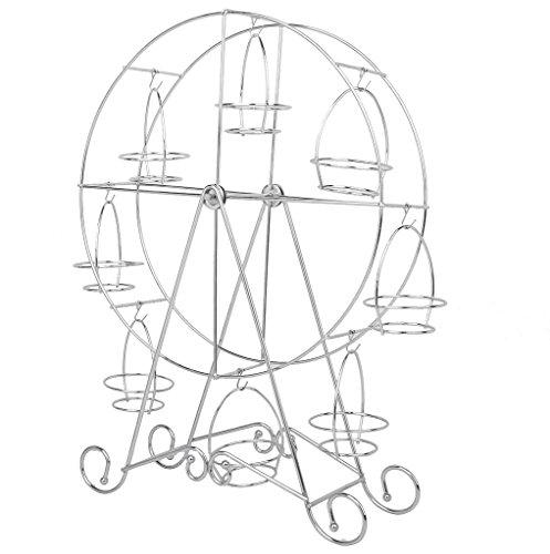 Soporte de Tartas con Capacidad de 8 Unidades Soporte en Forma de Giratorio Ferris de Acero Inoxidable