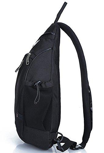 Freemaster zaino sportivo, zaino borsa a tracolla, per campeggio, palestra scuola, ciclismo, borsa piccola a tracolla, Bambino Uomo donna, White Black