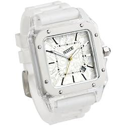 Urbanz Ice White Rubberised Fashion Watch