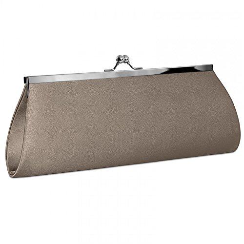 CASPAR Taschen & Accessoires, Poschette giorno donna bronzo