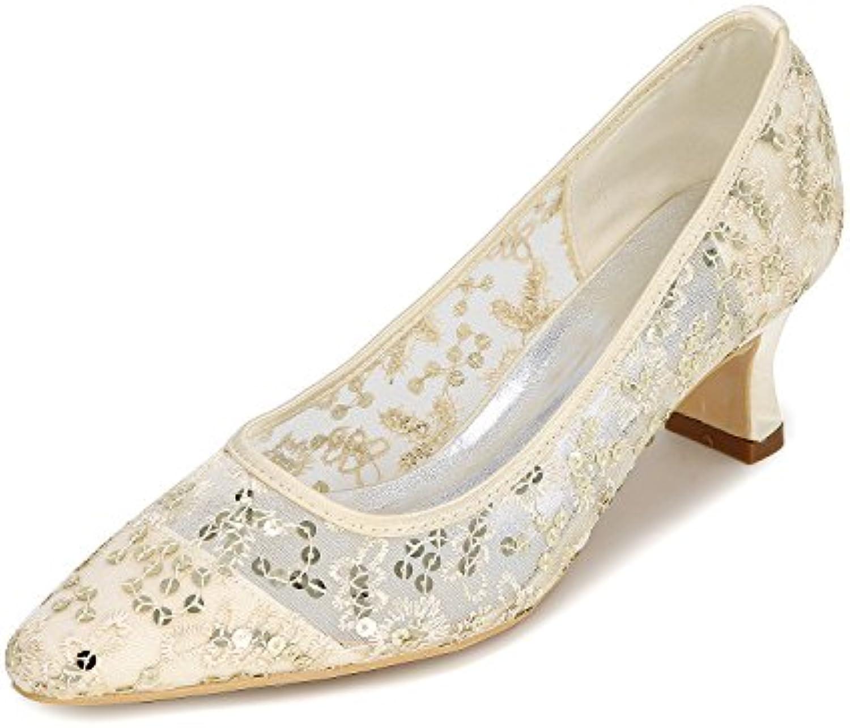 Qingchunhuangtang@ Confortable en dentelle Chaussures de talon pointe peu profondes, profondes, profondes, femmes chaussures femmes...B07DJCK1LFParent   De Fin D'année Bonnes Affaires Vente  fe6885