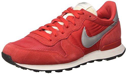 Nike Internationalist, Chaussures de Course Homme Rouge (University Red/metallic Silver)
