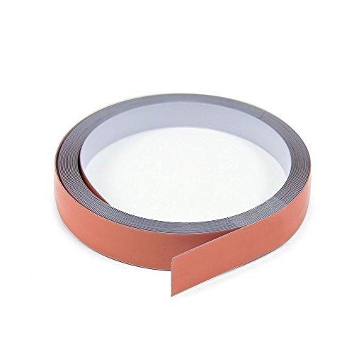 Magnet Expert® 19 mm de large x 0,4 mm d'épaisseur en acier Blanc brillant Tape avec Premium auto-adhésifs (30 m de long)