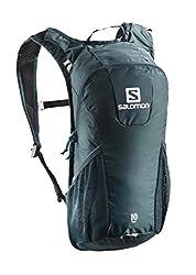 Salomon Trail 10 Runninghiking Backpack, Dark Blueice Blue, 10 Litre
