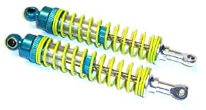L509 RC R/C Alloy Dampers Shock Absorbers 1/8 130mm Blue with Yellow Spring 2