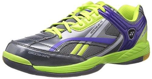 Yonex Exceed Plus 505 Pro Badminton Shoes, UK 9 (Grey/Lime Green)
