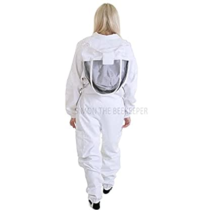 Simon The Beekeeper Buzz Work Wear White Suit With Fencing Veil - XL 2