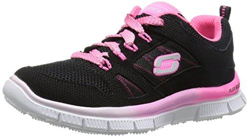 Skechers - Zapatillas de Running para niña Negro Negro/Rosa