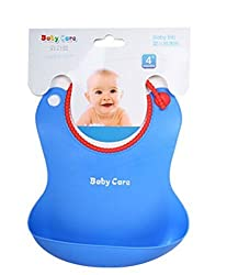 Waterproof Silicone Bib Easily Wipes Clean Comfortable Soft Baby Bibs Keep. Bib for babies and young toddlers(1 Bib pcs)