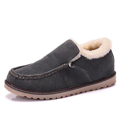 La Paragon Mocasines Zapatos De Mocasines Gris De Conducción De Alineados Ciudad De Cuero Hombres 01 Plana Comodidad SrHSwq0