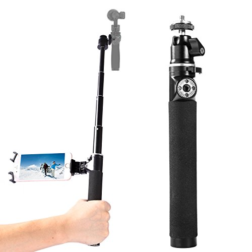 DJI huatuo® OSMO parte 1, Canna da pesca, in alluminio aerospaziale Selfie Stick per quadrirotore DJI OSMO