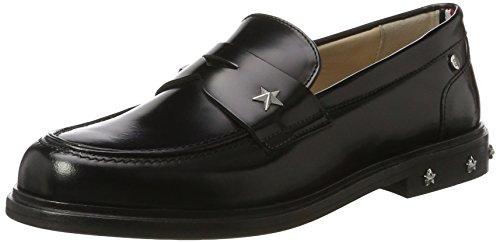 Tommy Hilfiger Damen D1285AISY 13A1 Slipper, Schwarz (Black), 39 EU (Schwarze Loafer)
