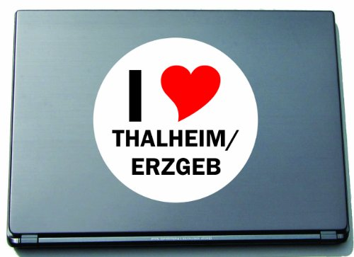 Indigos I Love Aufkleber Decal Sticker Laptopaufkleber Laptopskin 210 mm mit Stadtname THALHEIM/ERZGEB