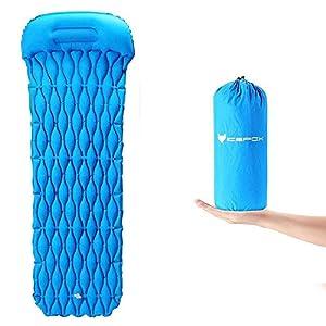 icefox Isomatte Selbstaufblasend, Luftmatratze Camping, Aufblasbare Schlafmatte, Ultraleichte Schlafmatte, Leicht Kleines Packmaß Luftbett für Camping, Outdoor