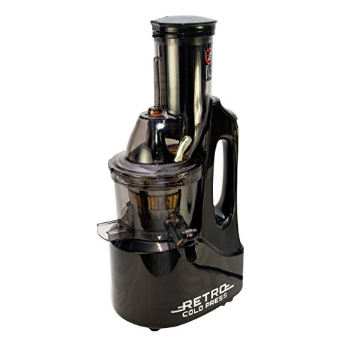 retro-cold-press-black-masticating-240-watt-juicer-with-easy-to-clean-parts-and-no-chopping-needed