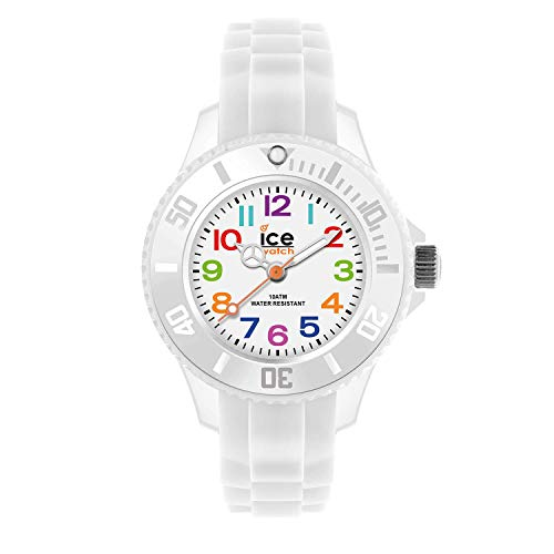 Ice-Watch - Ice Mini White - Weiße Jungenuhr mit Silikonarmband - 000744 (Extra small)