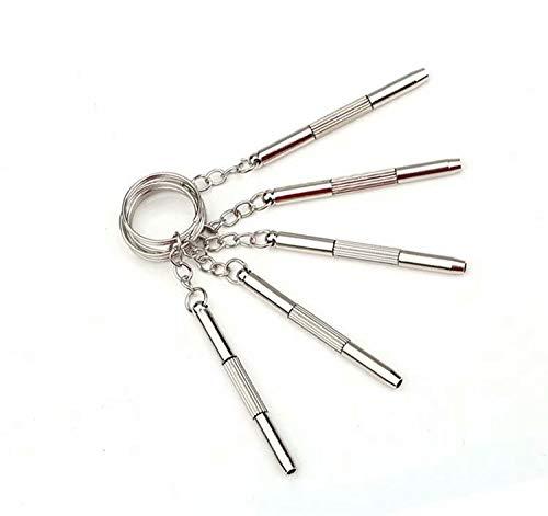 5 stück 3-in-1 Mini Alloy Schraubendreher/Schluesselanhaenger/Uhr/Brillen-Reparatur-Werkzeug