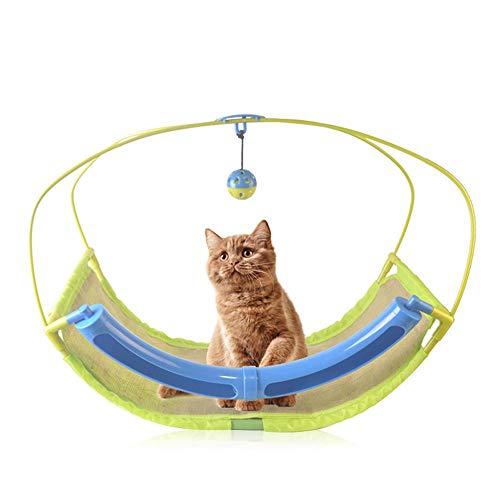 Volwco Lit balancelle Multifonction pour Chat avec balançoire et balançoire pour Animal Domestique