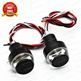 #2: TRP TRADERS 2 in1 Universal Motorcycle Handlebar White + Turn Signal Grip Bar End LED Light