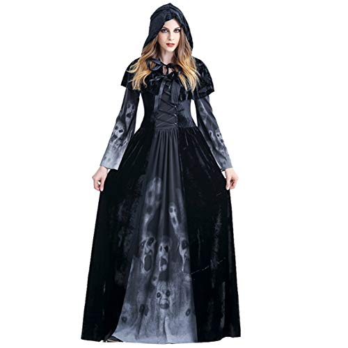 Shiningbaby Halloween Kostüme Hexe Vampir Kostüm Outfit Scary Evil Halloween Horror Kapuzen Mantel Kleidung für Halloween Party Cosplay Bühne
