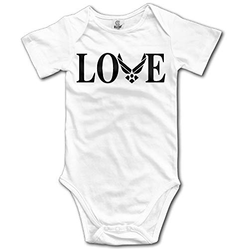 Proud Clothing Niceoodbaby Love Air Force Infant Baby Toddler Babysuit White Onesies Onesies 6 Months White Hearts Snap