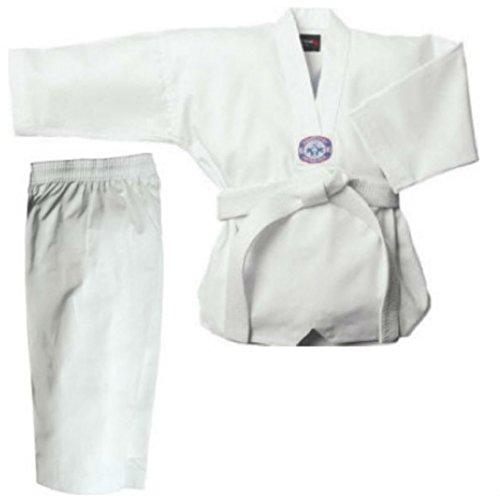 ko Taekwondo Kids WTF Style Ribbed Suit Gi Dobok TKD