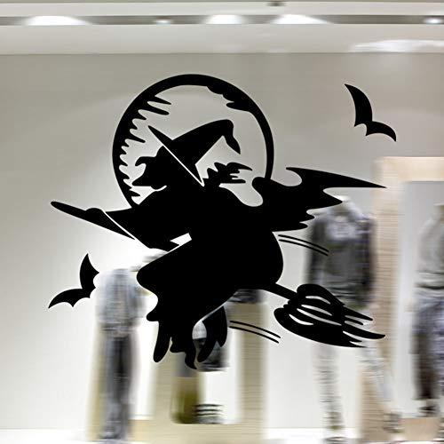 Xue Halloween-Tapeten, Hexe, Glas, Fenster, Wohnzimmer, Schlafzimmer, Kunst Dekor, Wanddecal, Wandgemälde, Aufkleber, Selbstklebendes Papier
