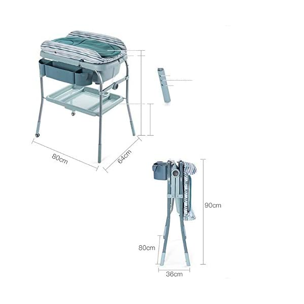 Baby Changing Table Unit Changing Station Storage Trays And Bath With Tub AA-SS-Baby Changing Table Comfortable height for changing the baby You can always keep a hand on your baby Material : New Zealand pine + lacquer-free board 9