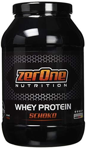 ZerOne Whey Protein Eiweißpulver | Natürliche Zutaten | hochwertiges Proteinpulver | Low Carb Eiweiß-Shake | Muskelaufbau Fitness Training | 1000g (Schoko)