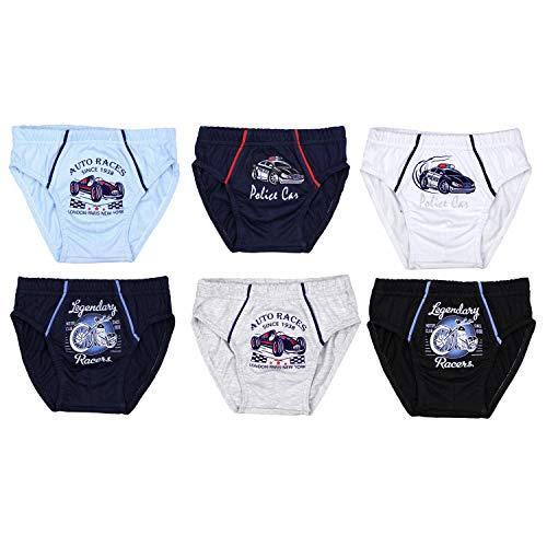 TupTam Jungen Unterhosen Slips o. Boxershorts 6er Pack, Farbe: Farbenmix, Größe: 116-122