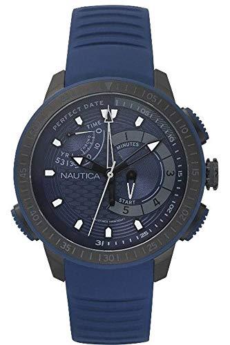 Nautica Orologio Cronografo Quarzo Uomo con Cinturino in Silicone NAPCPT002