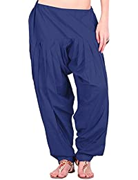 Estyle Women's Cotton Relaxed Maternity Bottom (502-97P_Navy Blue_Free Size)
