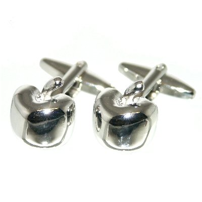 silver-apple-fruit-cufflinks-with-gift-pouch-grocer-apples-fruit-tree-healthy