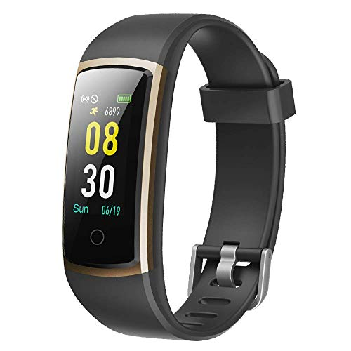 YAMAY Pulsera de Actividad Inteligente, Pulsera Inteligente con Monitor de Presión Arterial y Pulsómetro, Impermeable IP68 Pulsera Deportiva Reloj Inteligente para Mujeres Hombres Smartwatch para Teléfono