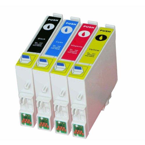 epson stylus dx4200 Multipack - 4 Druckerpatrone Kompatibel zu Epson T0611, T0612, T0613, T0614 Stylus D68, DX3800, DX3850, DX4200, DX4250, DX4800, DX 4850, DX5850