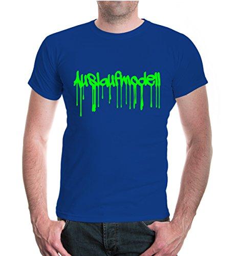 buXsbaum® T-Shirt Auslaufmodell Royal-Neongreen